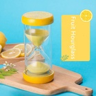 Fresh Fruit Picture Decorative Acrylic Sand Timer 15 30 Minutes Glass Hourglass