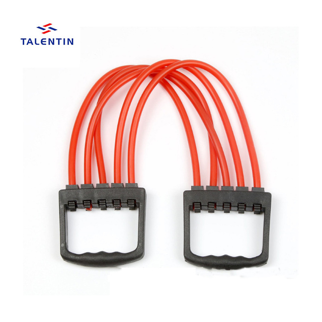 Expander rubber Resistance Band Detachable TPE Fitness Tubes with Adjustable Pull Force Suitable band for Home Gym Muscle Train
