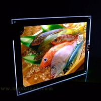 LED backlit picture Ultra Slim digital menu board for advertising