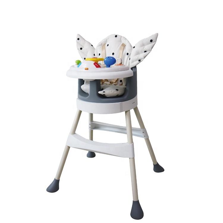 Brightbaby नई डिजाइन फैशन बहुक्रिया समायोज्य बच्चे खाने खिला कुर्सी EN14988 शिशु बच्चों 1 में 3 बच्चे उच्च कुर्सी