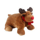 2 in 1 plush Stuff toys Plush animal shaped pillow cushion for kids