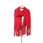 Fashion New arrival custom trend red jacquard promotion muslim hijabs knitted scarf