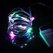 Медная проволока светодиодная гирлянда 3 м 5 м освещение для праздника сказочная гирлянда luces LED для рождественской елки Украшение для сваде...(Китай)