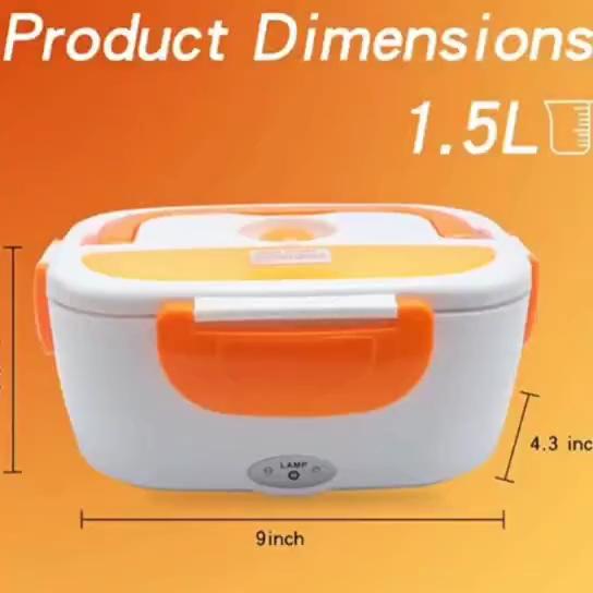 De plástico de comida portátil calentador eléctrico de Tiffin caja de almuerzo/110/220v de la calefacción de la caja de almuerzo para el coche y la Oficina de