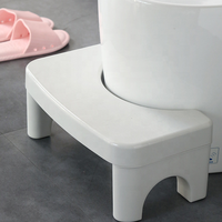 High quality heavry stand plastic foot stool for potty training toliet step use