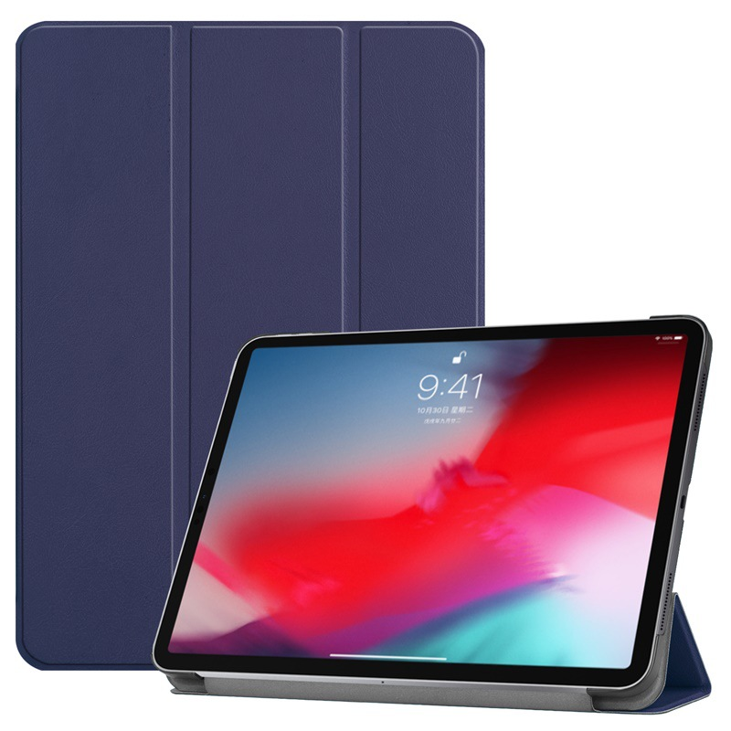2019 New arrival magnetic smart folio cover Folding leather stand tablet cases smart covers for <strong>ipad</strong> 12.9