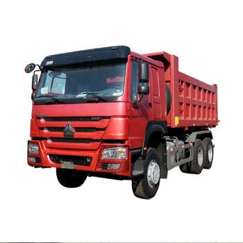 Red Sinotruk Howo 6x4 Dump Truck 310HP Euro 4 21 - 30 Ton