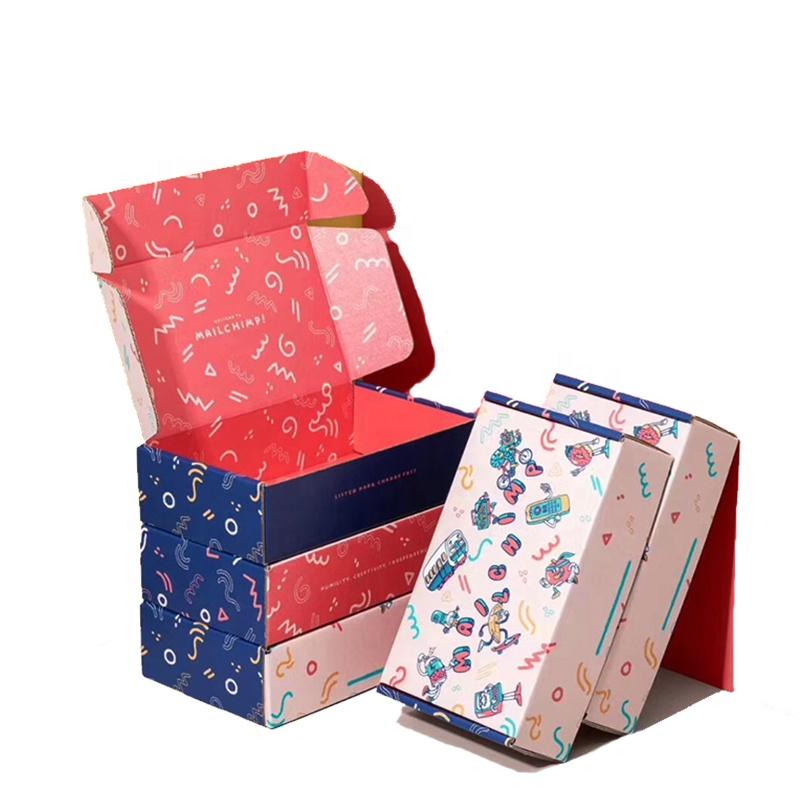 헤비 듀티 맞춤 메일러 배송 상자 공장 도매 다채로운 선물 상자