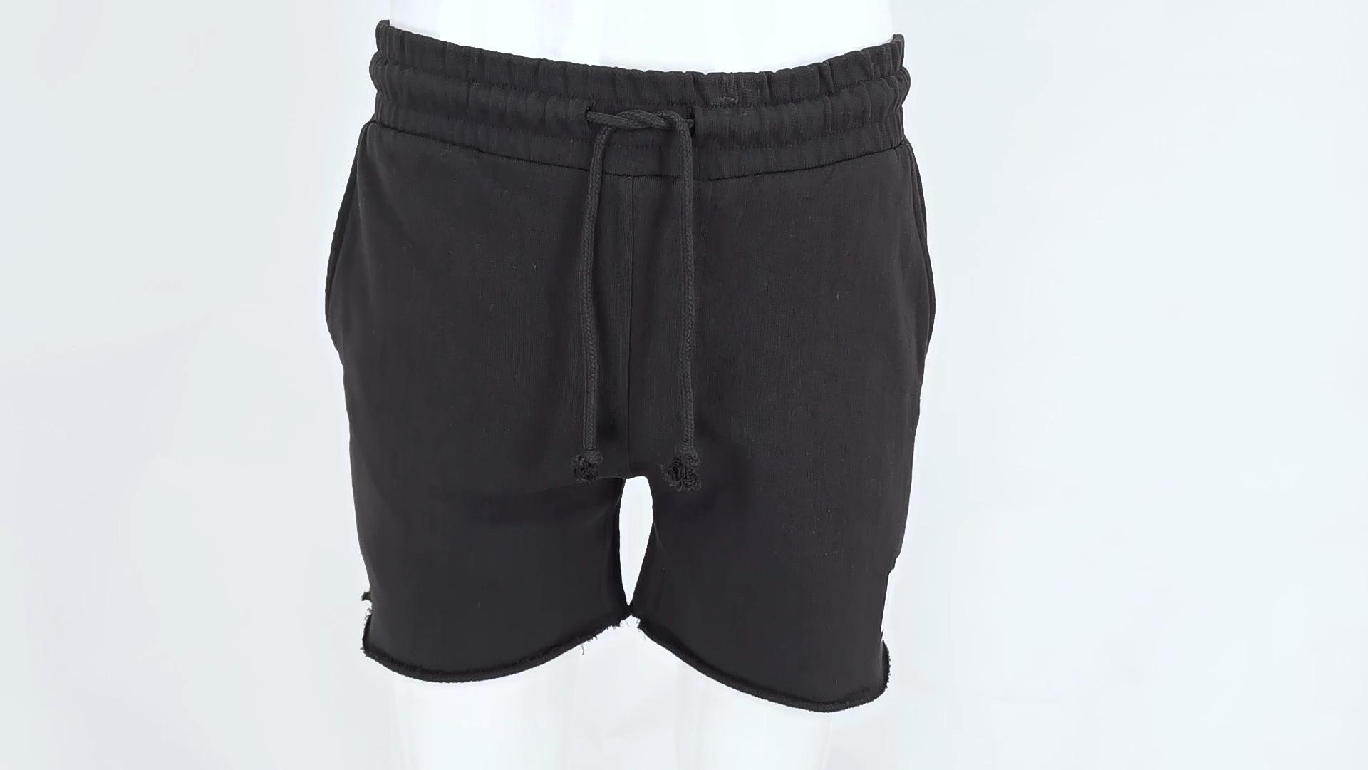 Custom embroidery logo fitness running jogger shorts for men