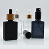 /product-detail/wholesale-usa-market-empty-30ml-matte-black-square-rectangle-clear-rectangular-glass-dropper-bottles-for-e-liquid-essential-oil-60806835280.html