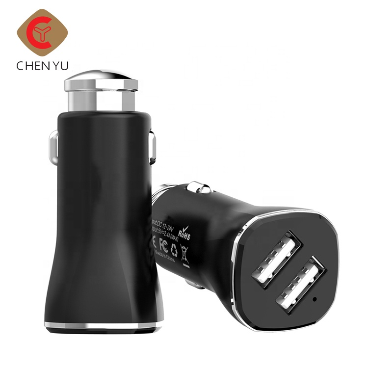 US standard 12-24V input electric mobile phone dual usb car charger