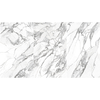 White Color With Veins Microcrystalline Artificial Marble