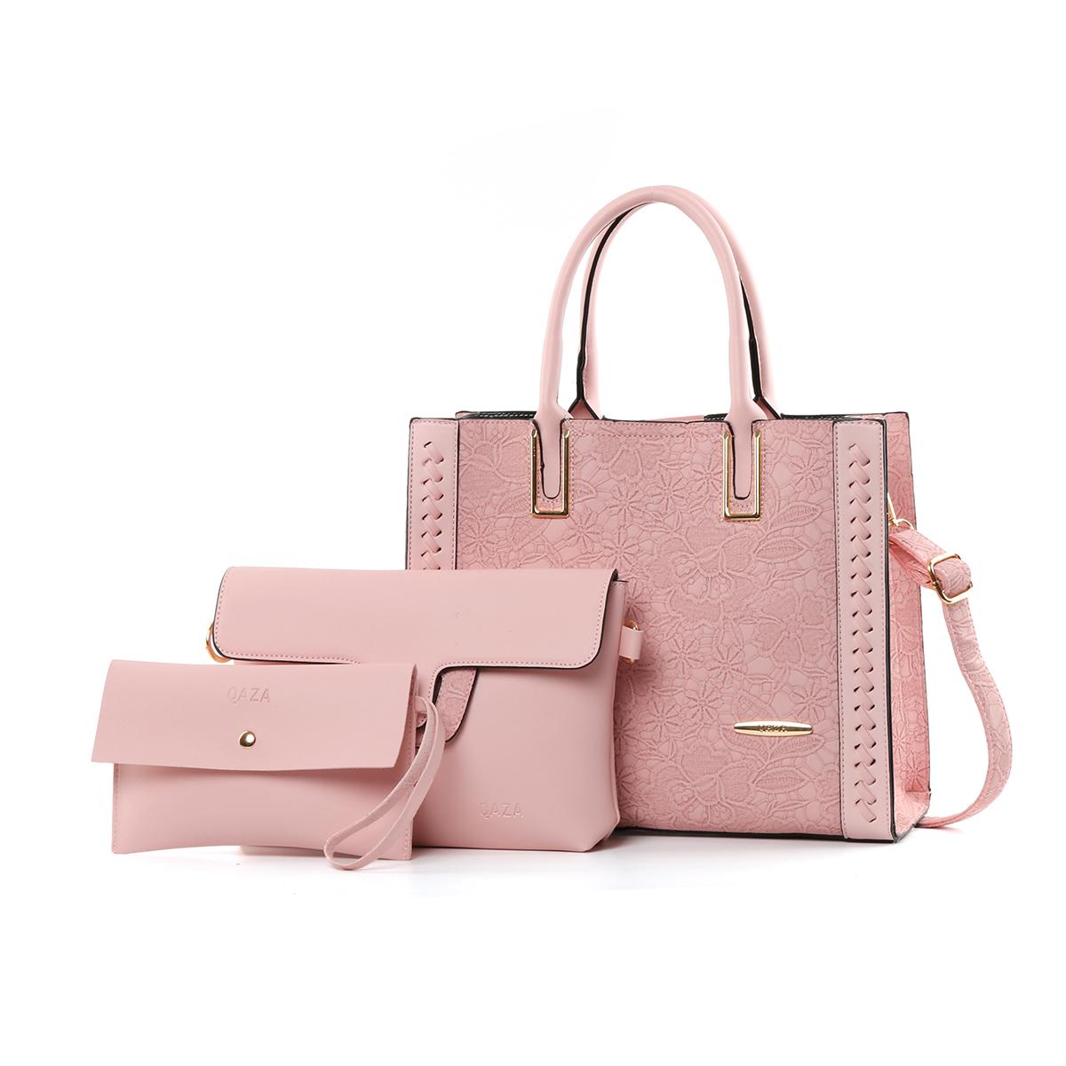 ZR95Z Guangzhou Nieuwe Aangekomen Handtassen Groothandel Markt Vrouwen 3 In 1 Set Pu Lederen Handtassen Set