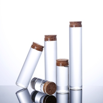 mini high borosilicate glass vials with wooden cork for gift and cosmetic subpackaging