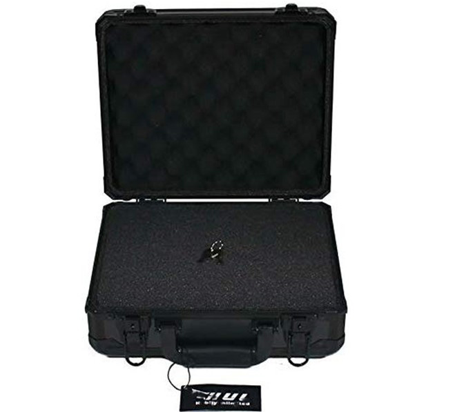 13in Aluminum Case with Customizable Pluck Foam Interior for Test Instruments Cameras Tools Parts and Accessories