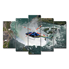 5 Pieces Living Room Decor Modern Helicopter Picture Wall Art HD Canvas Prints
