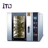 Steam Cooking Combination Bakery Equipment Multiple Convection Oven