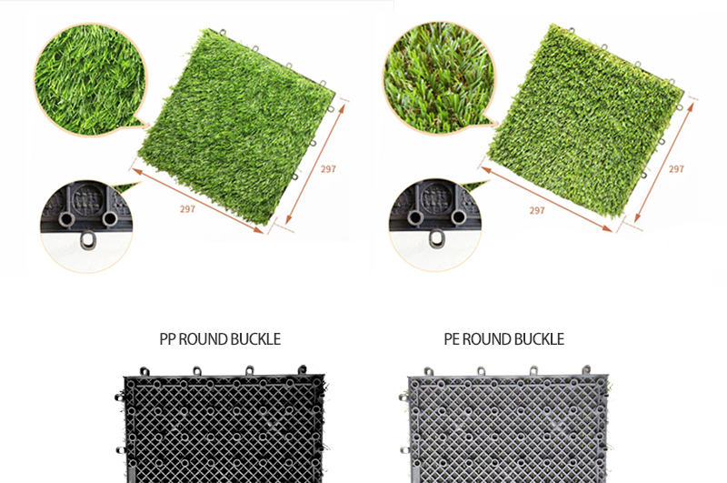 חיצוני שלובים דשא מלאכותי אריחי גינון רצפת אריחי דשא אריחי הסיפון