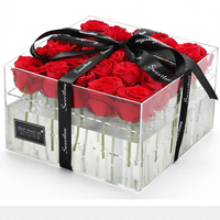 Long Last Rose 5-6cm A grade Preserved Roses In Acrylic Box