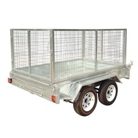 Cargo trailer galvanized utility trailer with checker plate floor
