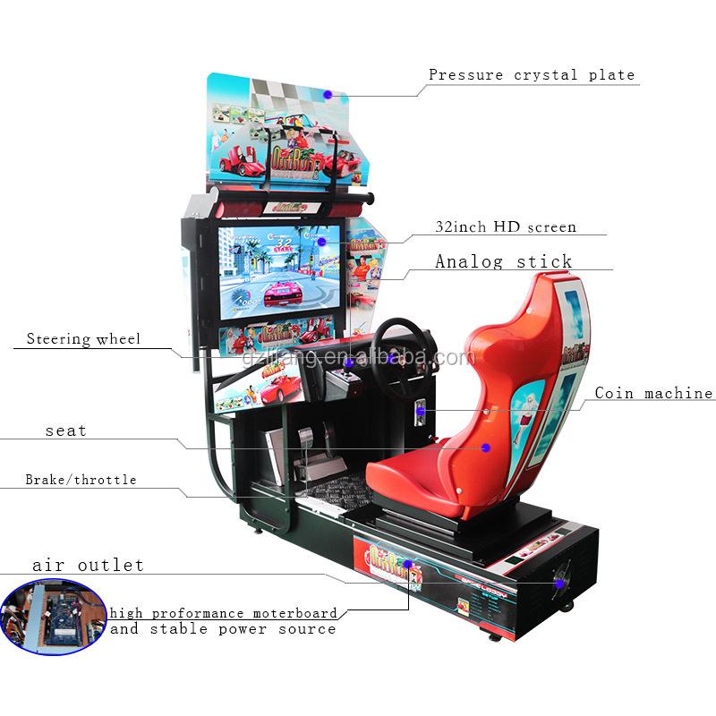 A01 Düşük Fiyat Hindistan Elektronik Simülatörü Outrun Video Jetonlu Araba Yarışı oyun salonu oyun makinesi Oyun Merkezi Için