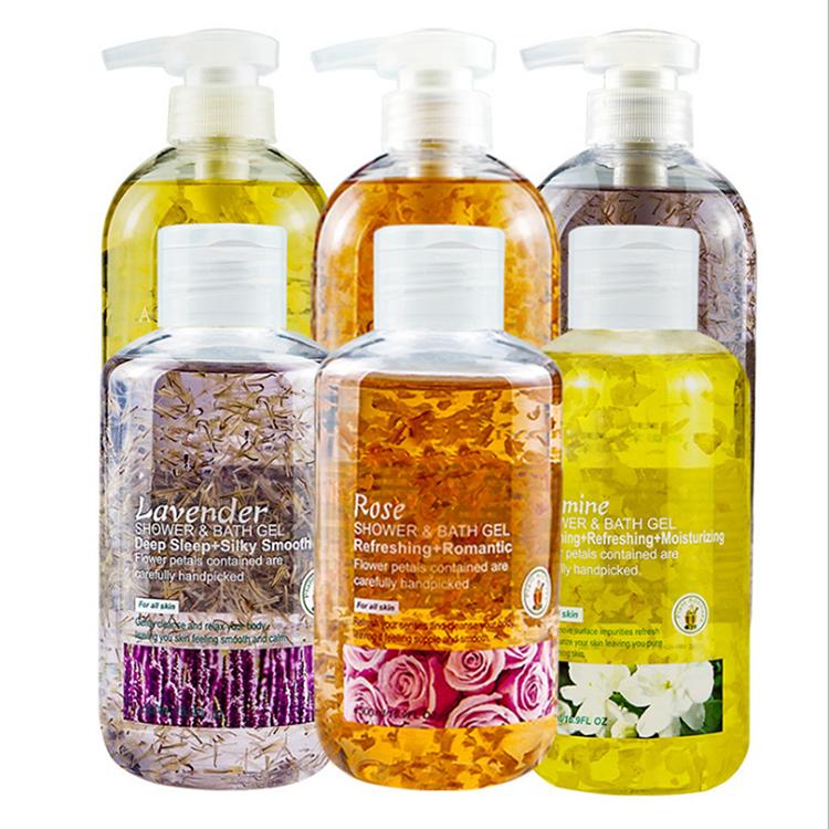 Private Label Natural Cherry Blossoms Liquid Skin Lightening Body Wash