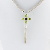 Natural Gemstone Peridot Sterling silver jewelry beautiful Peridot Pear shaped stone cluster Charm cross pendant Necklace