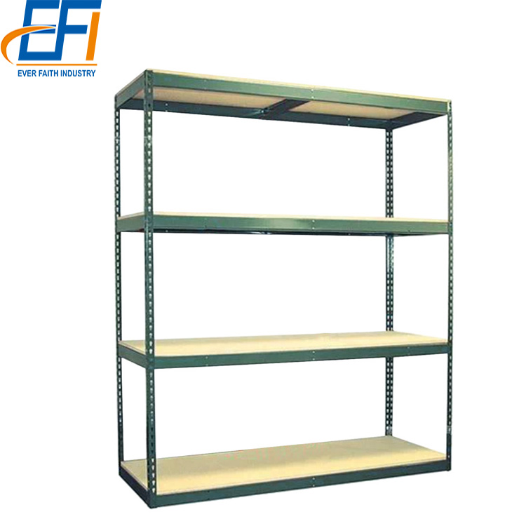 adjusted metal shelves slotted angle rack household angle iron storage shelf