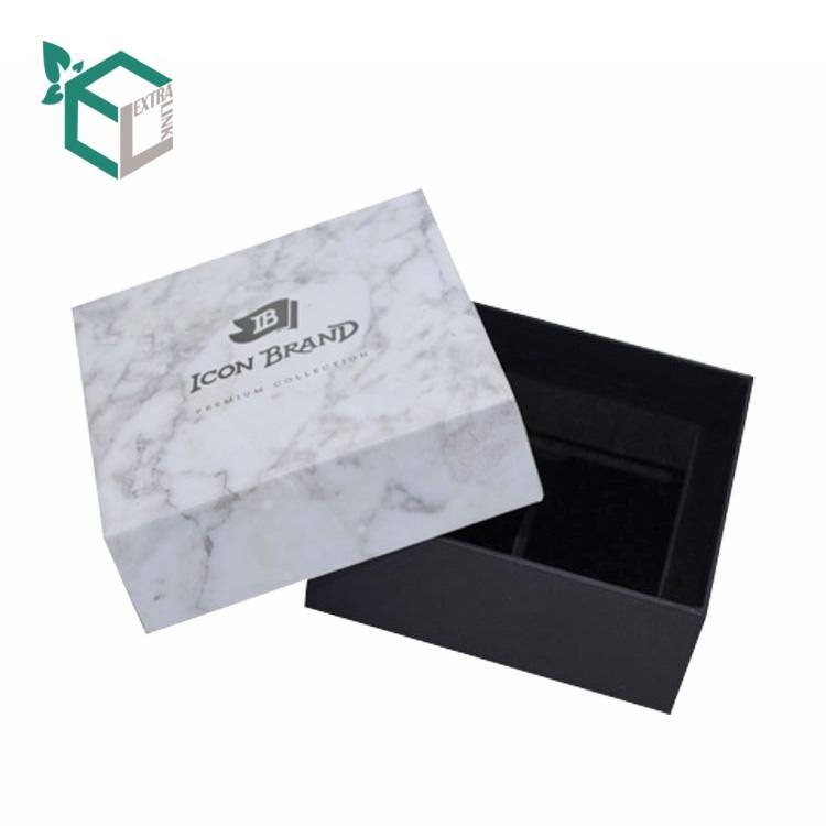 Оптовая продажа высокое качество коробка логотип картонная бумага коробка с крышкой квадратной формы мрамор Подарочная коробка Упаковка