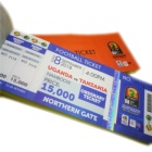 Anti-counterfeiting thermal paper hologram tickets