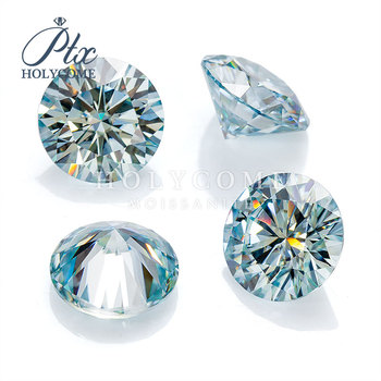 Factory Price Round Cut 6mm 0.8ct Blue color Moissanite Gemstone Wuzhou Holycome