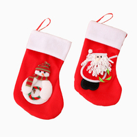 Large Christmas Stockings Gifts Cloth Santa Elk Socks Xmas Lovely Gift Bag For Children Fireplace Tree Christmas Decoration