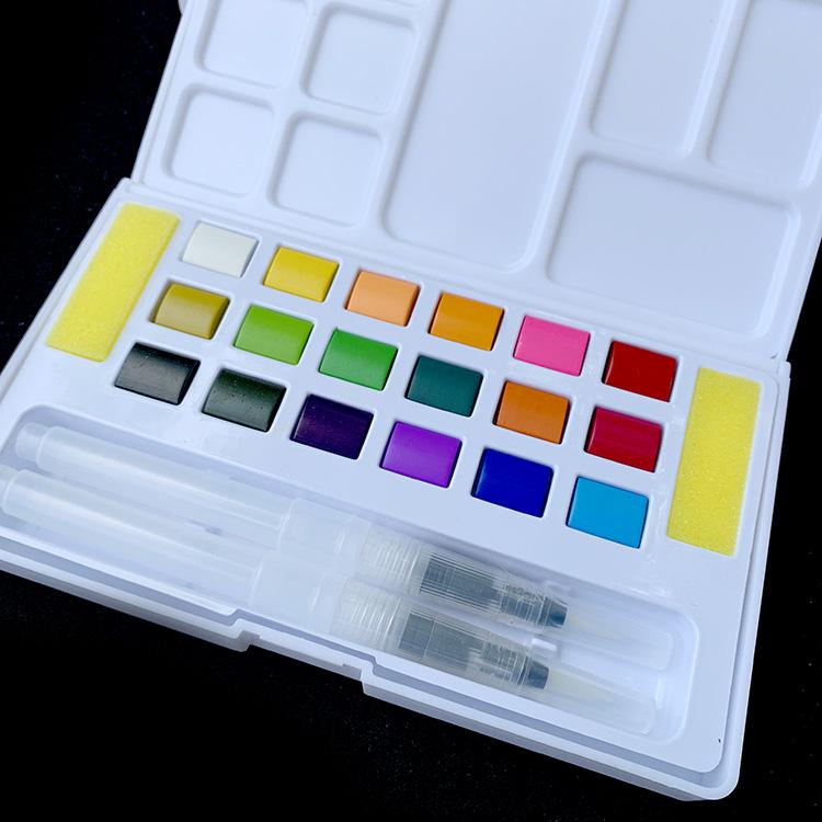 Set Lukisan Cat Air Profesional 24 Warna Langsung dari Pabrik dengan Kotak Portabel