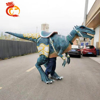 Lifesize open legs simulation wearable dinosaur statues costume dinosaur for sale