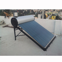 Domestic hot water electrical heating element solar water heater