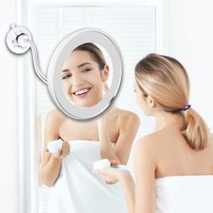 LED Light Vanity 10X Magnifying Adjustable 360 Rotation Flexible Mounted Wall Bathroom Makeup Mirror