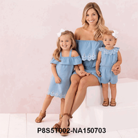 New Spring&Autumn Style Family Matching Outfits Mother And Daughter Fall Full Black Striped Dress