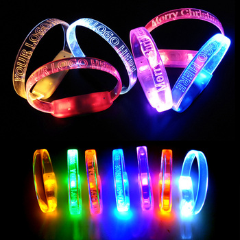 Multicolor Glow in The Dark LED Stick Flashing Bracelet Wristbands For Concerts Festivals Party Night Events