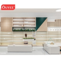 Fashion Design Glossy White Cabinet Interior Design Names Footwear Shops Furniture Store Shoe Rack Display