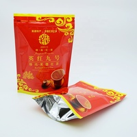 laminated plastic stand up zipper tea bag