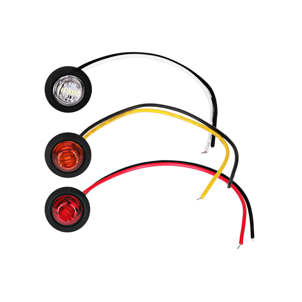 3 LED 12V 24V Trailer Clearance Lights  Mini 3/4