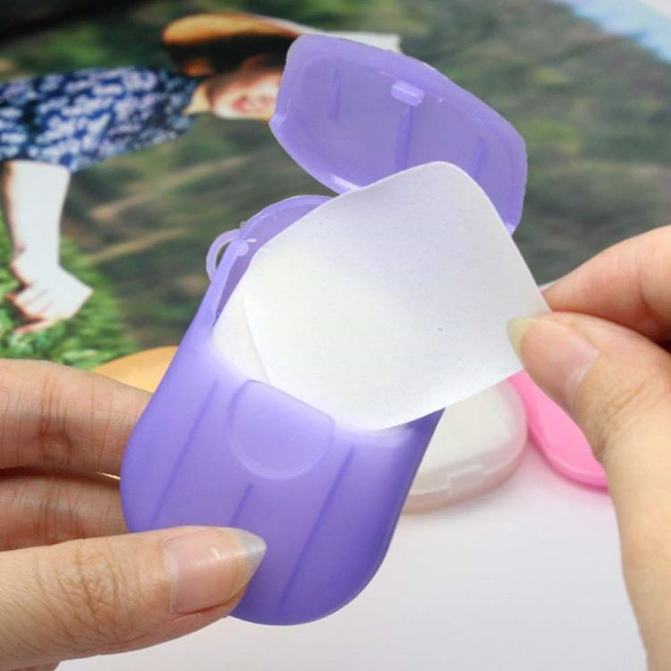 Amazon Hot sell travel supplies portable disposable soap paper mini paper soap