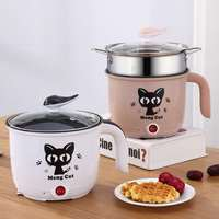 Electric cooker household multi function electric rice cooker mini hot pot stainless steel inner multi cooker