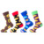 wholesale high quality funny novelty happy fruit food design crew mens avocado socks custom logo