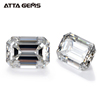 Colorless White Clarity VVS Excellent Emerald Cut Moissanite Diamond Loose Gemstone For Jewelry