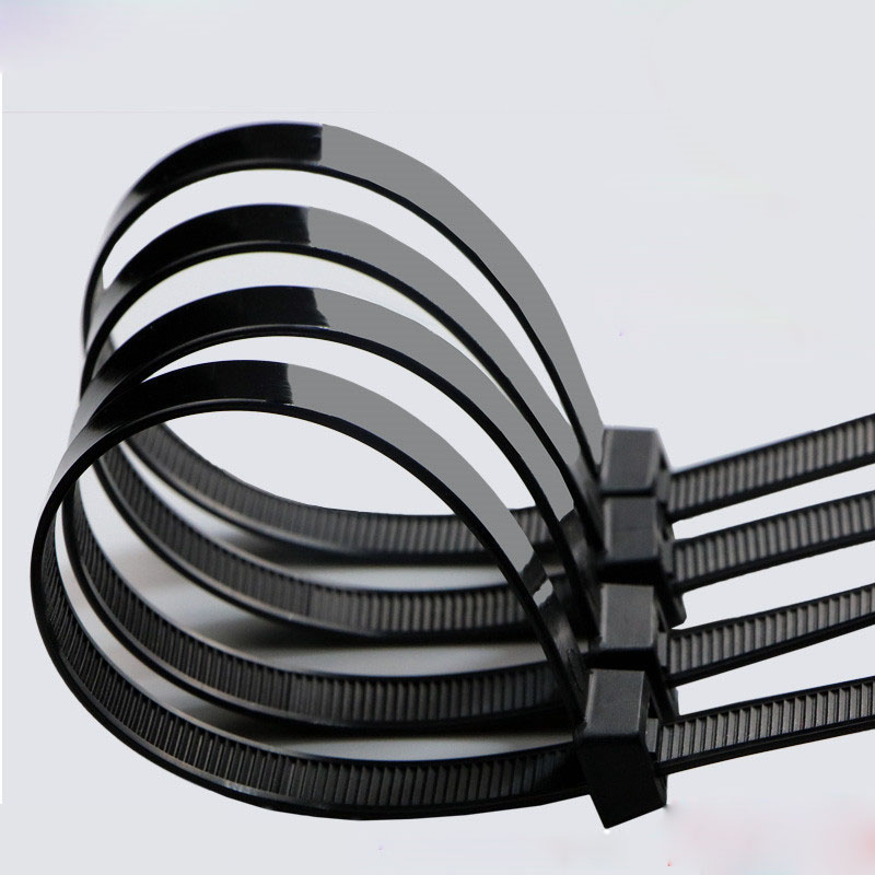Hampool Hot Selling Black 9.0*820MM Custom Logo Durable Self-locking Thin Nylon Cable <strong>Tie</strong>