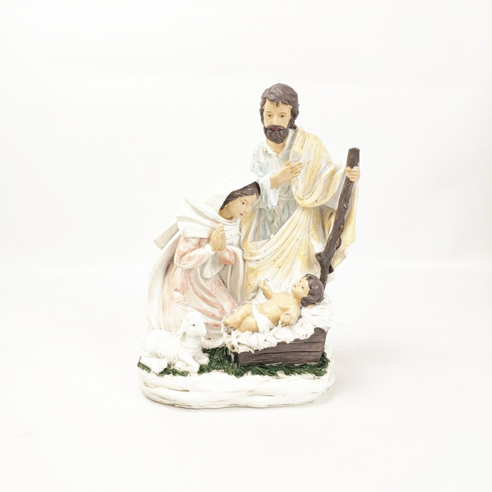 Wholesale Religious Resin Figurine Nativity Sets for Home Decoration