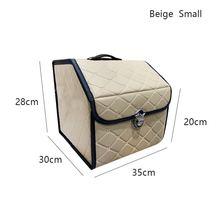 AUTOROWN Автомобильная сумка в багажник для хранения Органайзер из искусственной кожи в багажник Аксессуары для автомобиля Складная сумка в ба...(Китай)
