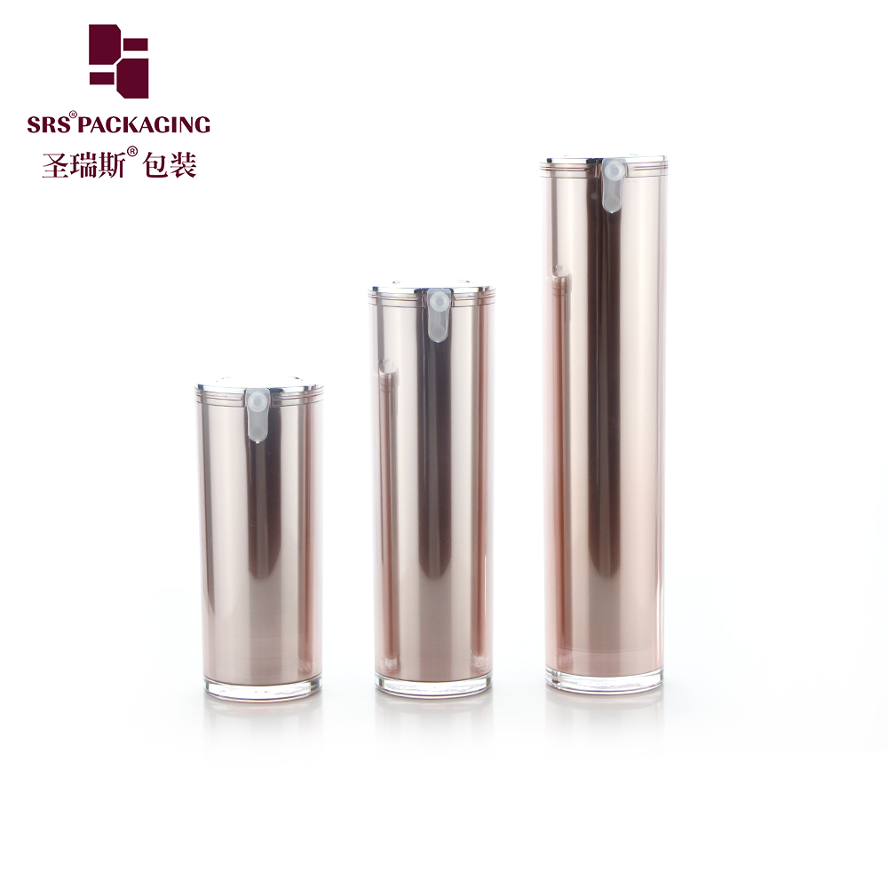 15ml 30ml 50ml Luxury empty cosmetic acrylic serum airless spray pump bottle