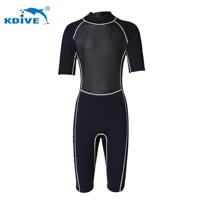 Wholesale freediving wear neoprene smooth skin half sleeve wetsuit custom
